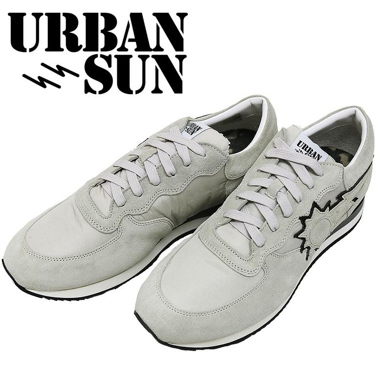 【URBAN SUN】アーバンサン スニーカー ランニングモデル ローカット 太陽 オフホワイト メンズ カジュアル