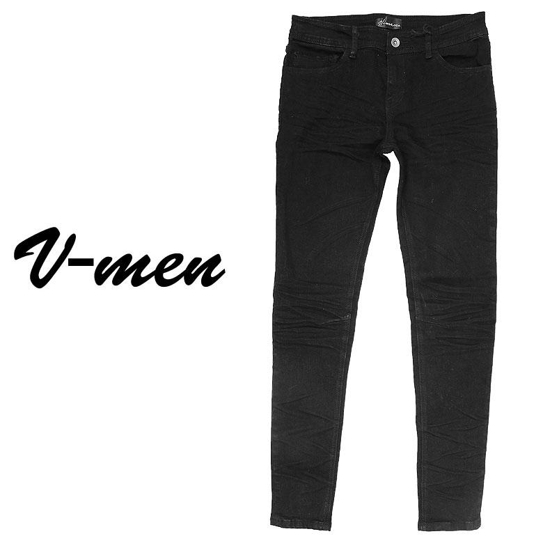 【V-men】ブイメン ストレッチデニムパンツ パンツ ジーンズ スリム シンプル ストレッチ