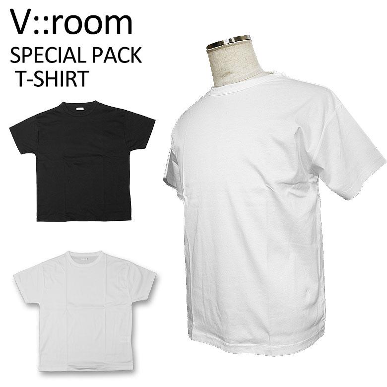 【v::room】ヴイルーム カットソー SPECIAL PACK T-SHIRT パックTシャツ 2色セット 半袖 リラックス感 カジュアル メンズ