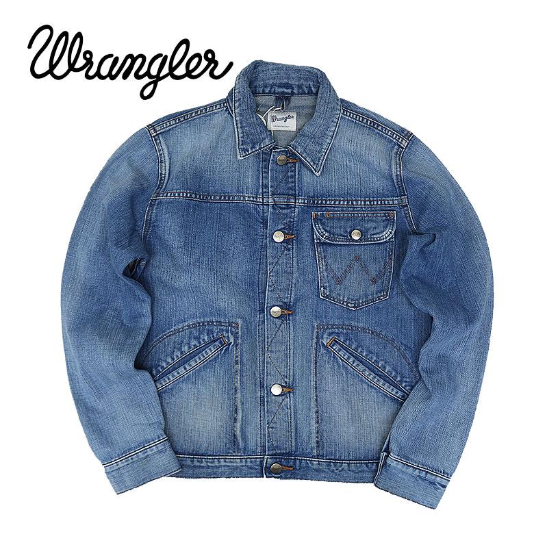 【Wrangler】ラングラー LEFT-HAND STORY デニムジャケット アウター ジージャン タイト メンズ シンプル ブルー アメカジ