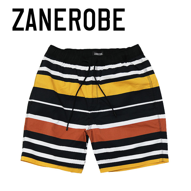 【ZANEROBE】ゼインローブ Rugby Laguna Shorts ビーチショーツ 海パン ストライプ ラグビー サーフ メンズ カジュアル