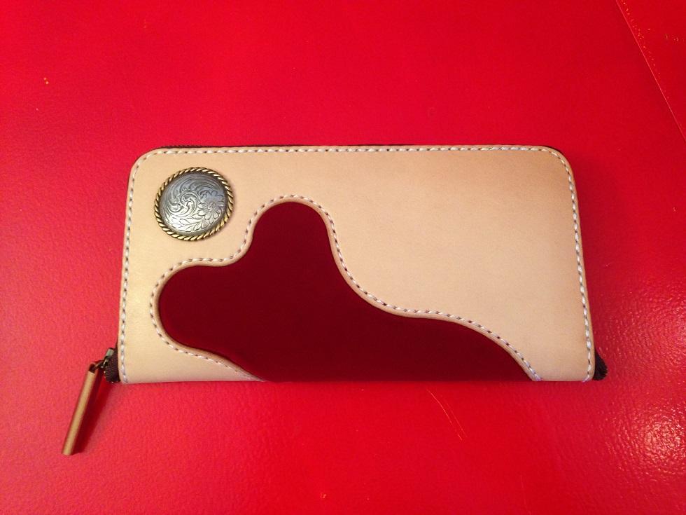 ハンドメイド 皮 財布