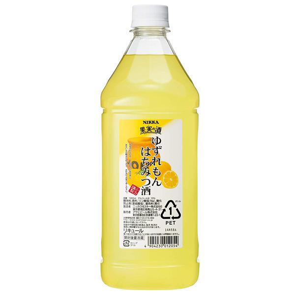 リキュール コンク カクテル ニッカ 果実の酒 ゆずれもんはちみつ酒 1800ml【家飲み】 『HSH』