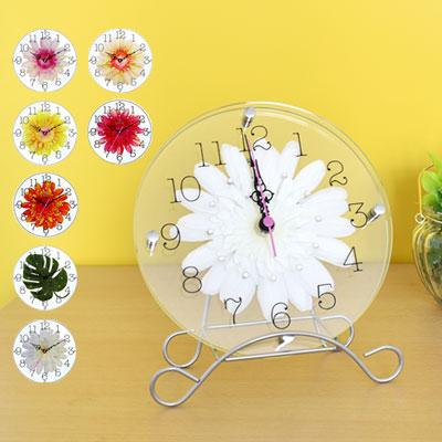 アートフラワークロック 時計 ガラス インテリア コンパクト 結婚式 プレゼント 母の日 ウェディング  壁掛け レース かわいい ギフト クリスタル スターライン