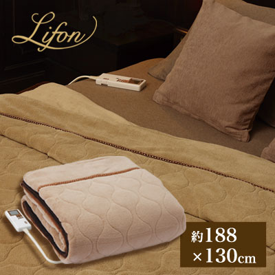 Lifon(リフォン) 電気かけしき毛布 夢あんない セレクトフリー 広電 電気毛布 洗える シングル 掛け敷き兼用 ダニ撃退