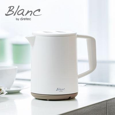 すばやくお湯がわかせる電気ケトルです シンプルでオシャレなデザインで 家族みんなで使うのも一人暮らしで使うのもおすすめ 電気ケトル ストア おしゃれ 1L 電気 ケトル ドリテック 新生活 新品未使用 電気ポット コーヒー ホワイト Blanc 白湯 ブラン お茶 コンパクト かわいい ひとり 洗いやすい 衛生 インテリア