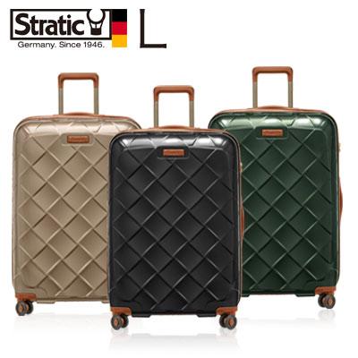 スーツケース ハード 大型 Lサイズ 出張 長期旅行 1週間以上 ハードスーツケース トランク 軽量 送料無料 Stratic レザー おしゃれ かわいい 上品 国内 海外 高級 トローリー ドイツ