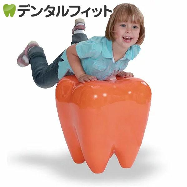 【送料無料】3Dトゥースチェア(オレンジ)