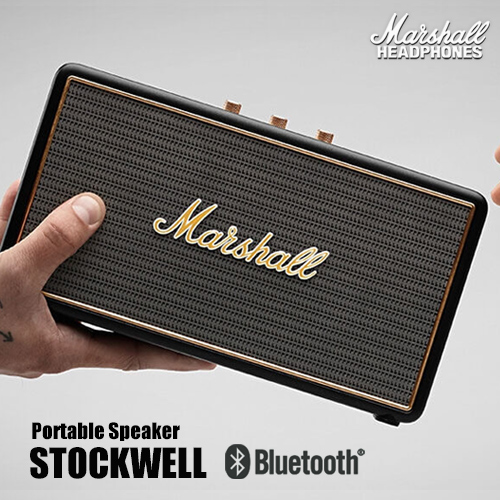 Marshall speaker STOCKWELL / Marshal compact speaker STOCKWELL  [bluetooth-adaptive portable iPhone audio product smartphone high-quality  sound