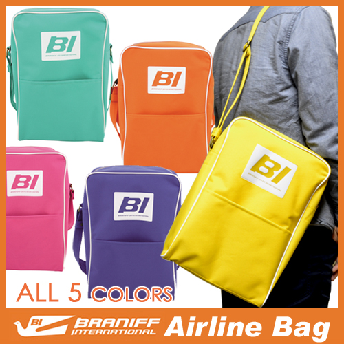 Braniff International Airline Bag And