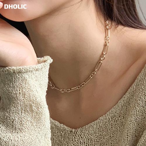シンプルなポイントになるネックレス メタルチェーンネックレス 全2色 d59513 レディース acc 韓国 ファッション メタル ゴールド シルバー チェーンネックレス ネックレス チェーン アクセサリー 男女兼用 好評受付中