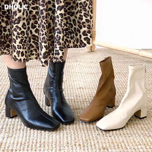 春の新作シューズ満載 裏起毛化 履きやすいフィット感のブーツ 裏起毛スクエアアンクルブーツ 全3色 s53675 レディース sho 韓国 ファッション シューズ 期間限定お試し価格 靴 ショートブーツ スクエアトゥ アンクルブーツ ソックスブーツ ミドルヒール 冬 レザー くつ 秋 カジュアル ブーツ