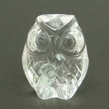 パワーストーン 天然本水晶 フクロウ(Mサイズ)