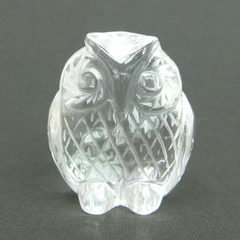 パワーストーン 天然本水晶 フクロウ