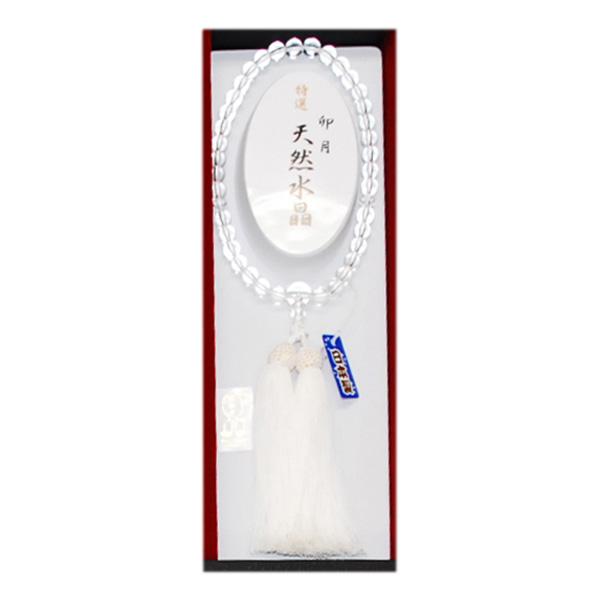 誕生石入天然水晶女性用念珠-4月:水晶[ヨ]kuin_Y171109100201004