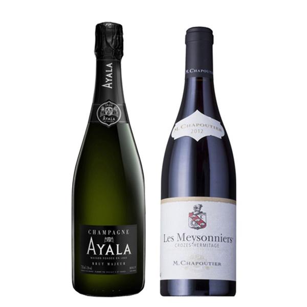 シャンパン&ローヌ ワインセット-[G]glm_Y170907100060
