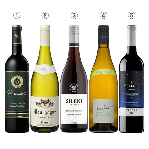 食とワインのマリアージュ赤白5本セット-[G]glm_Y180208000003