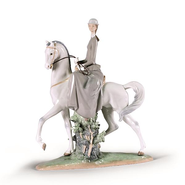 〈リヤドロ〉白い馬の少女A04516[モ]kuin_I010000001328_0_0_0