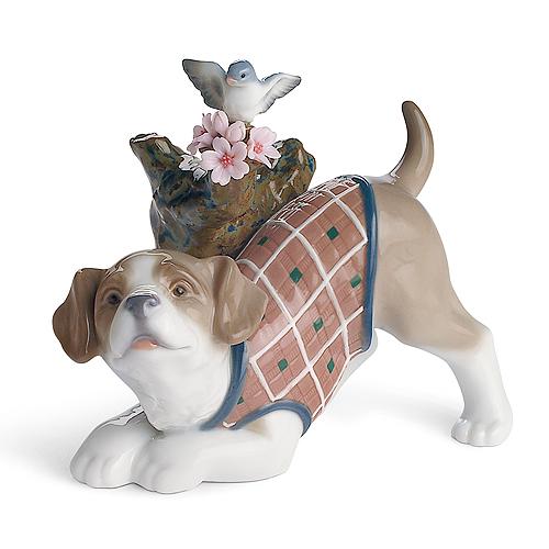 〈リヤドロ〉桜の咲く頃-仔犬A08381[モ]kuin_I020000029820_0_0_0
