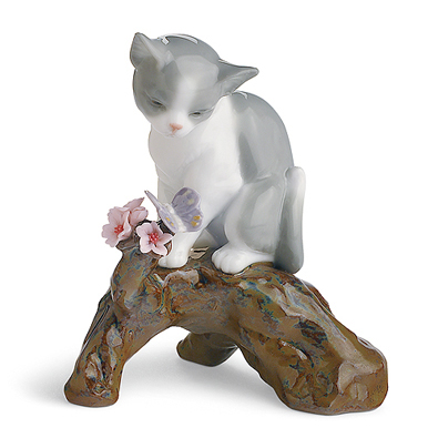 〈リヤドロ〉桜の咲く頃-仔猫01008382[モ]kuin_Y150617100020_0_0_0