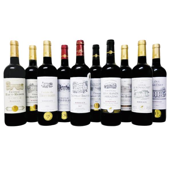 【ご自宅用】162.◆フランスボルドー 金賞赤ワイン10本セット-10本セット[G]jtk_C200508200162