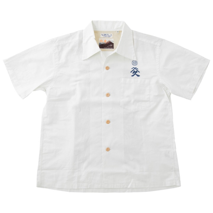 SUN SURF(サンサーフ×北斎)アロハシャツ HAWAIIAN SHIRT『SPECIAL EDITION / 武者絵』SS37652-105 Off White