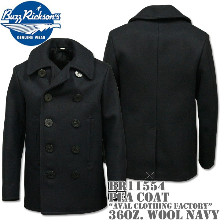 BUZZ RICKSON'S バズリクソンズ Type PEA COAT 36oz Wool NAVAL CLOTHING FACTORY BR11554