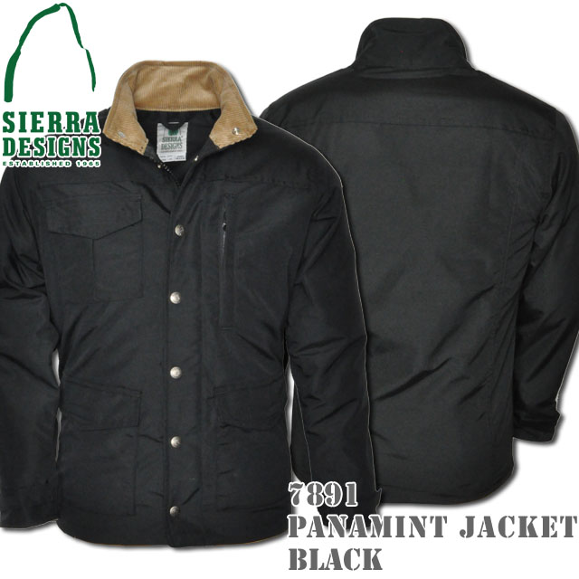SIERRA DESIGNS シエラデザインズ PANAMINT JACKET パナミントジャケット 7891 Black