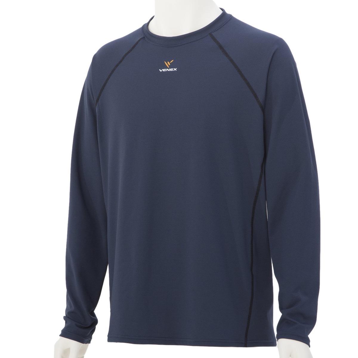 VENEX ( ベネクス ) リカバリーウェア リラックス ロングスリーブ メンズ スポーツウェア (XL, ネイビー)