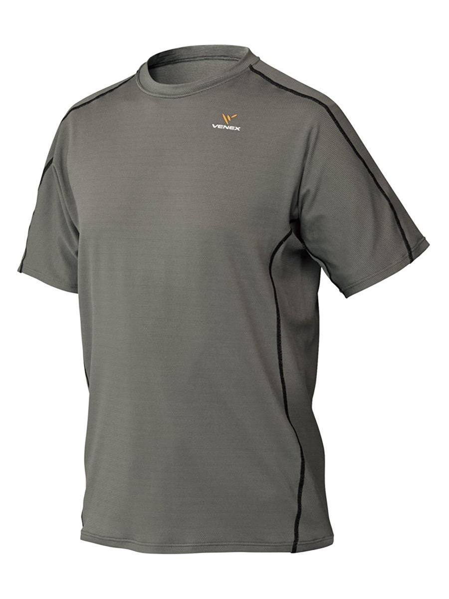 VENEX ( ベネクス ) リカバリーウェア リラックス ショートスリーブ メンズ スモーキーグレー XXL インナー Tシャツ パジャマ