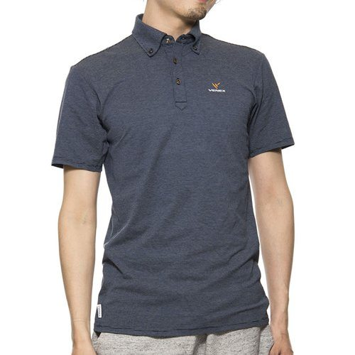 VENEX ( ベネクス ) リカバリーウェア リフレッシュポロシャツ メンズ ネイビー XL スポーツウェア 半袖