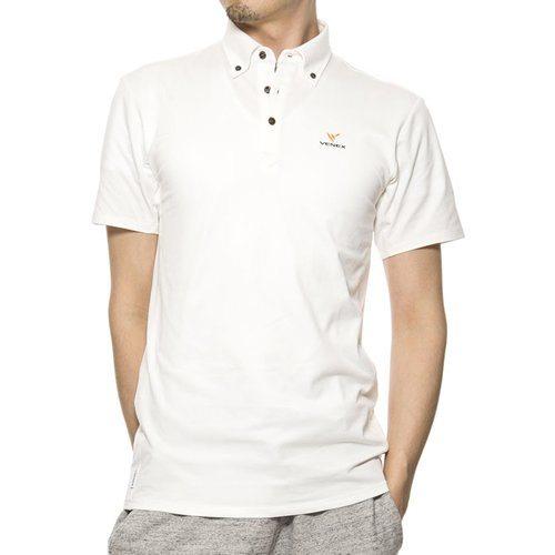 VENEX ( ベネクス ) リカバリーウェア リフレッシュポロシャツ メンズ ホワイト XXL スポーツウェア 半袖