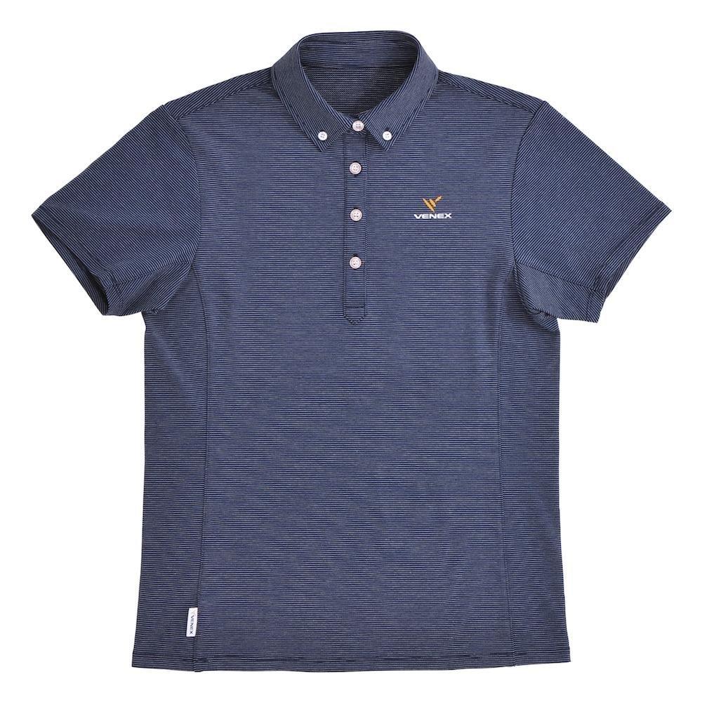 VENEX(ベネクス) リカバリーウェア リフレッシュポロシャツ レディース スポーツウェア 半袖 ネイビー Mサイズ 67111604