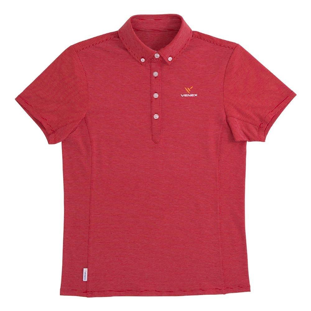 VENEX ( ベネクス ) リカバリーウェア リフレッシュポロシャツ レディース レッド M スポーツウェア 半袖