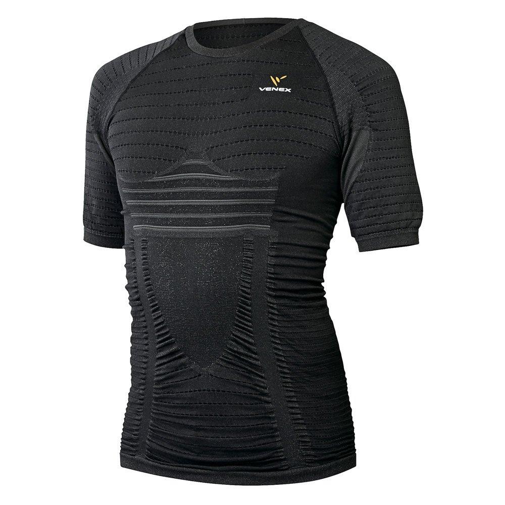 VENEX ベネクス リカバリーウェア リチャージPROショートスリーブ メンズ インナー Tシャツ 半袖 パジャマ ブラック L 6420