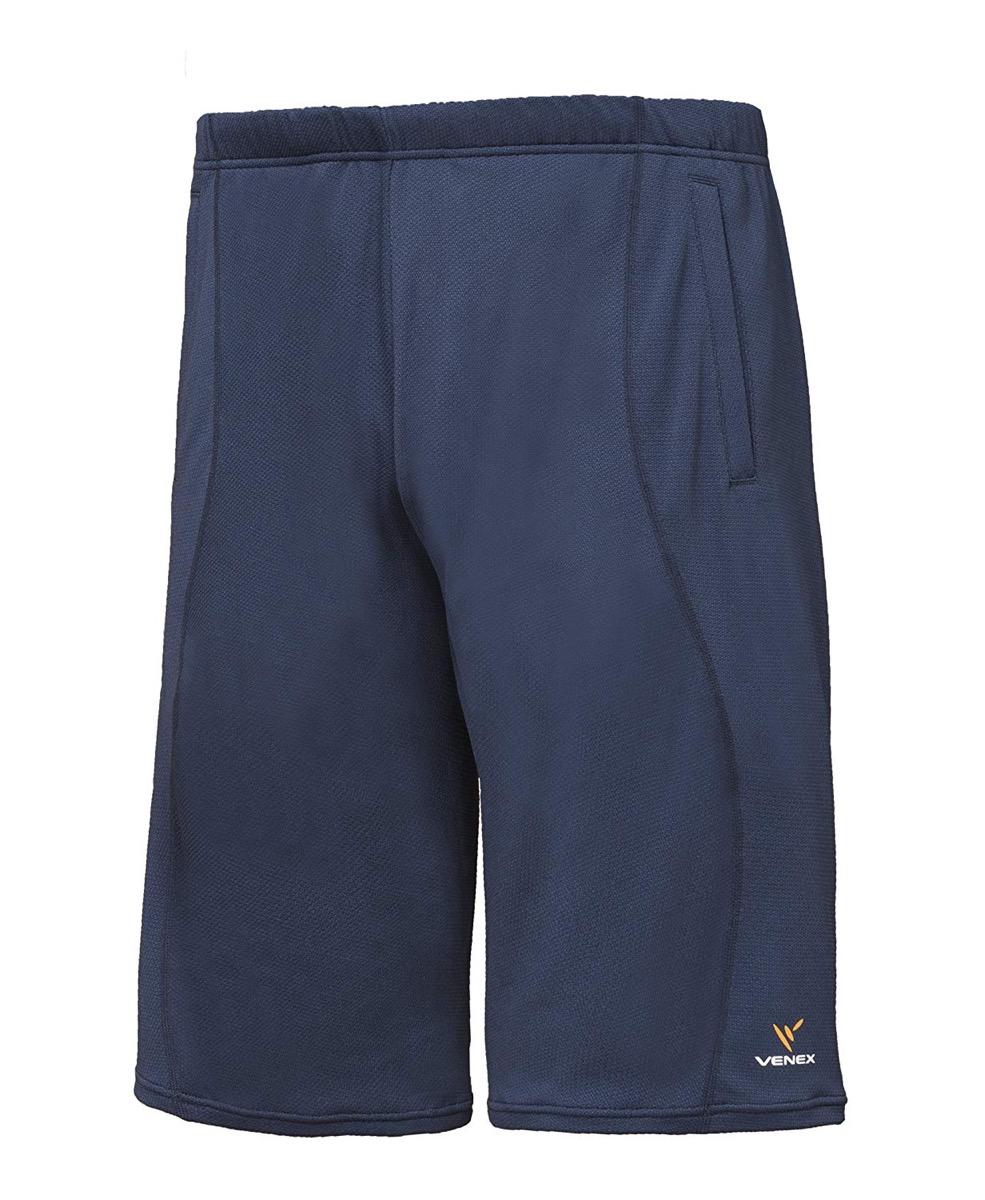 VENEX ベネクス リカバリーウェア スタンダードドライ ハーフパンツ メンズ 部屋着 半ズボン インナー パジャマ 疲れとり 疲労回復 快眠 安眠 ネイビー XL 6524