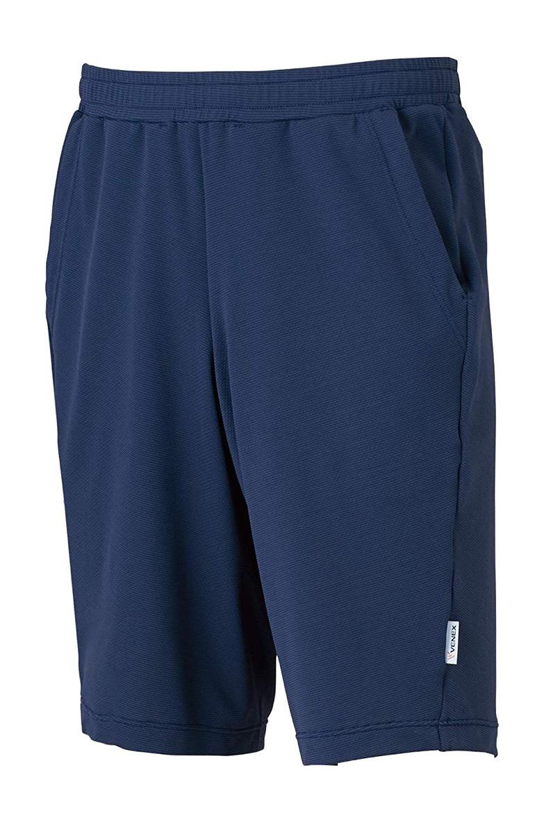 VENEX(ベネクス) リカバリーウェア フリーフィールクール ハーフパンツ メンズ 部屋着 半ズボン インナー パジャマ 疲れとり 疲労回復 快眠 安眠 (ネイビー, XL)