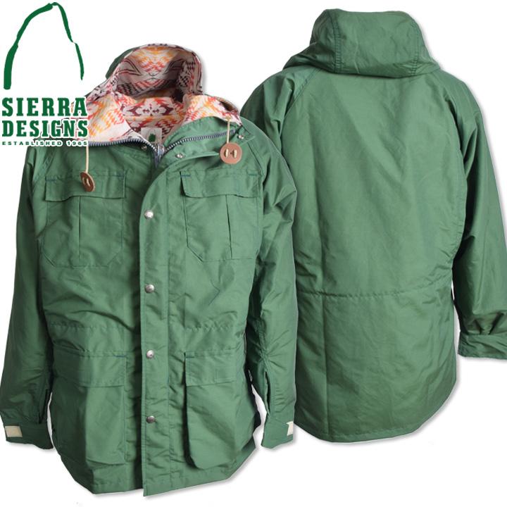 SIERRA DESIGNS シエラデザインズ PENDLETON T&E MOUNTAIN PARKA ペンドルトンT&Eマウンテンパーカー 7924 Green