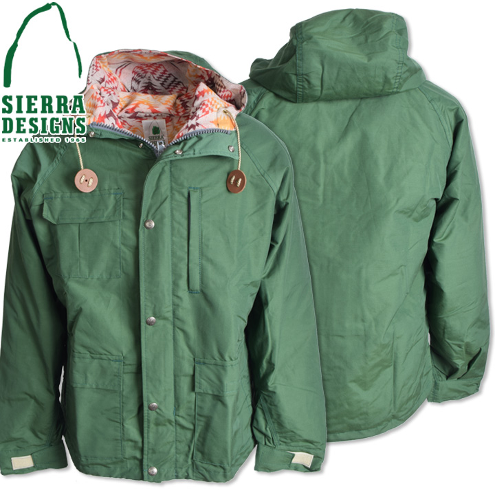 SIERRA DESIGNS シエラデザインズ PENDLETON T&E SHORT PARKA ペンドルトンT&Eショートパーカー 7262 Green