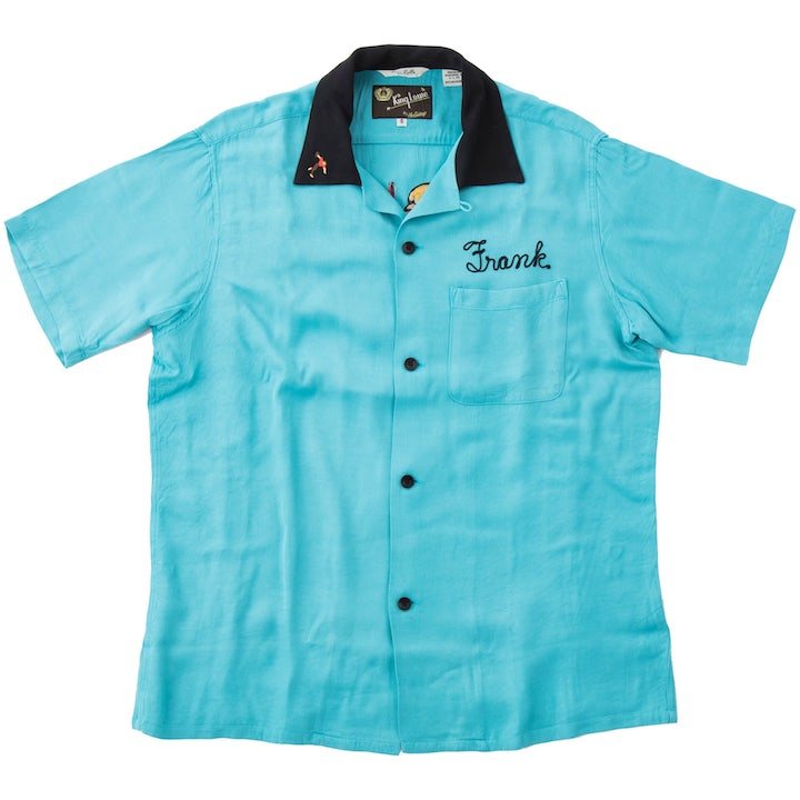 King Louie by Holiday キングルイ SPECIAL EDITION BOWLING SHIRTS ボーリングシャツ 「LAS VEGAS」KL37833-123 Turquoise