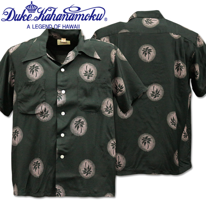Duke Kahanamoku デューク カハナモク アロハシャツ HAWAIIAN SHIRT SPECIAL EDITION / WONDROUS PALM TREE 』 DK37856-119 Black