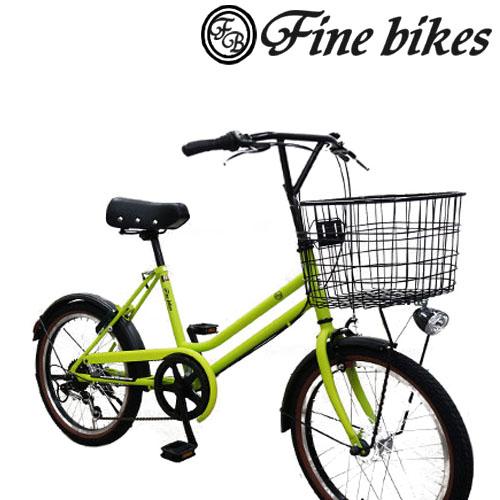 【6段変速 20インチ 定番街乗り自転車!小径車!あんしんのBAA付き LEDオートライト!】Dプラスオリジナル ポッケシリーズ ファインバイク レトロミニ SP SW206R-OL【街乗りミニベロレトロ】※自転車購入の場合、オプション送料は掛かりません。
