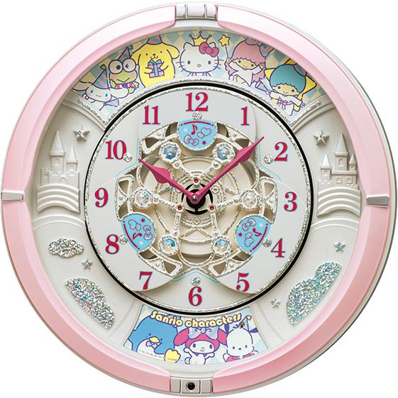 北海道 沖縄 トラスト 超安い 離島配送不可 CQ222P からくり時計 SEIKO 壁掛け時計 壁かけ時計 壁掛時計 セイコー サンリオキャラクターズ