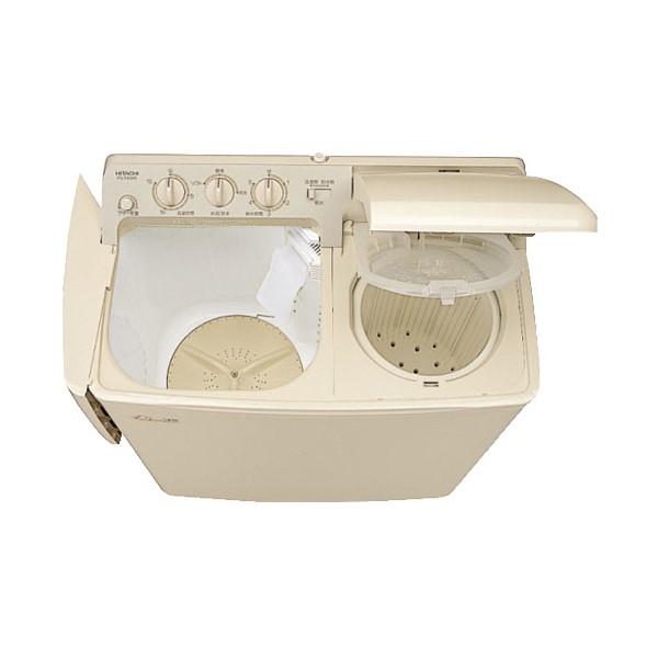 【時間指定不可】【離島配送不可】PS-H45L-CP 2槽式洗濯機 HITACHI 日立 青空 洗濯容量4.5kg/脱水容量5kg PSH45LCP パインベージュ【送料無料(北海道1000円沖縄10000円別途加算)】
