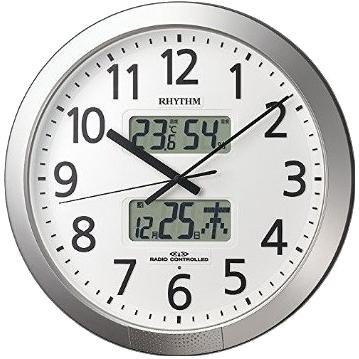 4FN404SR19 電波掛時計 リズム時計 プログラムカレンダー404SR 壁掛け時計 電波時計 電波掛け時計 電波掛時計 壁掛時計 かけ時計 壁掛け電波時計 電波壁掛け【送料無料(北海道1000円沖縄2000円別途加算)】