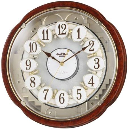 【北海道・沖縄・離島配送不可】4MN480RH23 壁掛け時計 リズム時計 電波時計 スモールワールドコンベルS 電波掛け時計 電波掛時計 壁掛時計 かけ時計 壁掛け電波時計 電波壁掛け時計