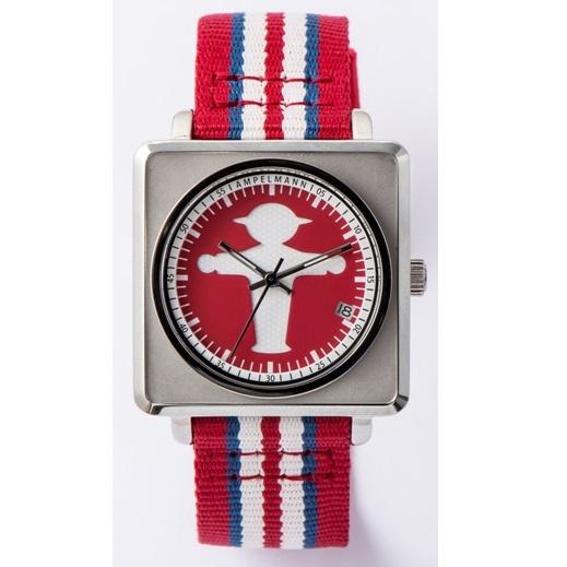 お取り寄せ【北海道・沖縄・離島配送不可】APR-4971-19 腕時計 AMPELMANN アンペルマン オートマ スクエア レッド APR497119
