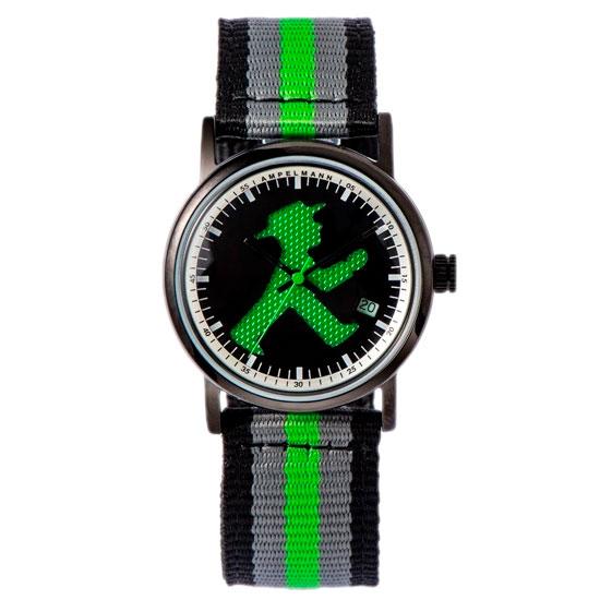 【お取り寄せ】ASC-4972-05 腕時計 AMPELMANN アンペルマン クォーツ ラウンド ブラック ASC497205【送料無料(北海道1000円沖縄2000円別途加算)】