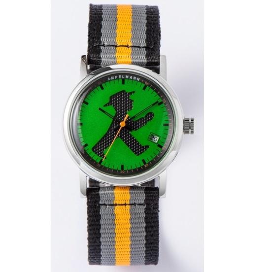【お取り寄せ】ASC-4972-12 腕時計 AMPELMANN アンペルマン クォーツ ラウンド グリーン ASC497212【送料無料(北海道1000円沖縄2000円別途加算)】