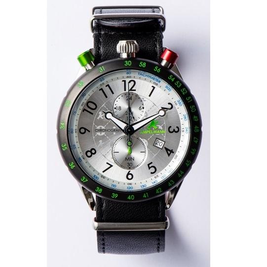 【お取り寄せ】AKS-4974-02 腕時計 AMPELMANN アンペルマン クロノグラフ シルバー AKS497402【送料無料(北海道1000円沖縄2000円別途加算)】
